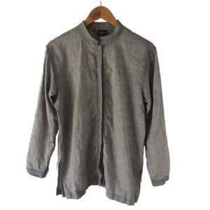 Eileen Fisher Button-Down; 100% Irish Linen - M
